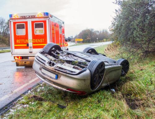 Verkehrsunfall mit schwerverletzter Person auf der A 6 in Höhe Limbach