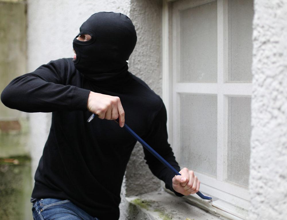 Einbrecher auf frischer Tat betroffen