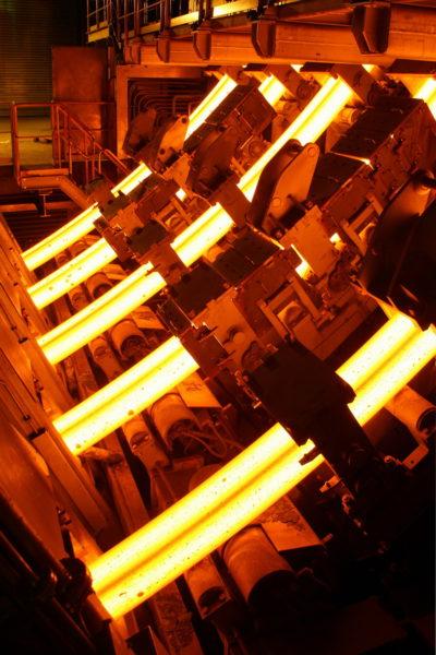 Stranggießanlage S3 im LD-Stahlwerk