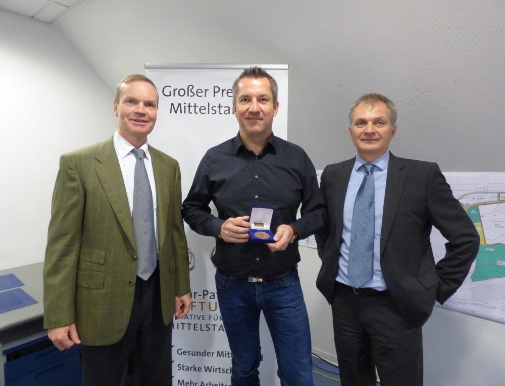 Saitow AG bekommt Ehrenplakette beim Deutschen Mittelstandspreis
