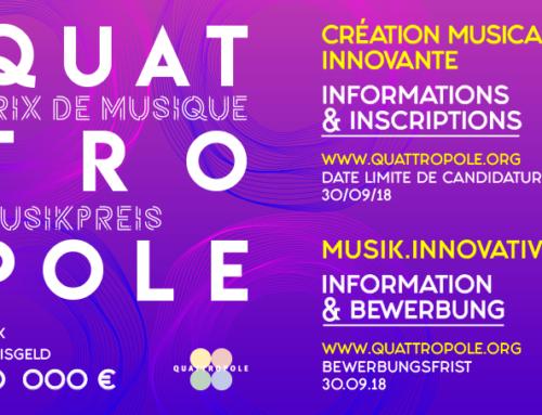QuattroPole-Musikpreis: Bewerbungsfrist noch bis zum 30.09.2018