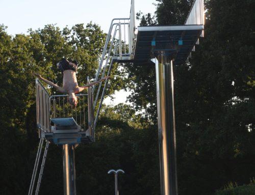 Schwarzenbergbad um eine Attraktion reicher: 5-Meter-Sprungturm