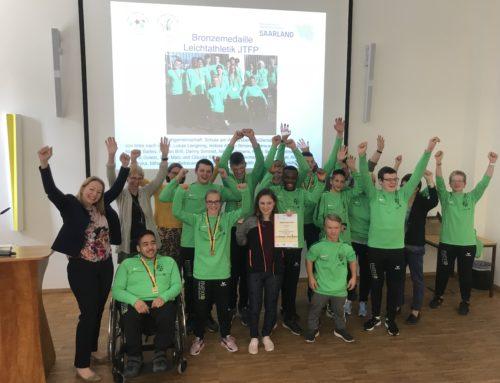 """Ehrung erfolgreicher Sportlerinnen und Sportler aus dem Saarland bei """"Jugend trainiert für Olympia"""" und """"Jugend trainiert für Paralympics"""""""